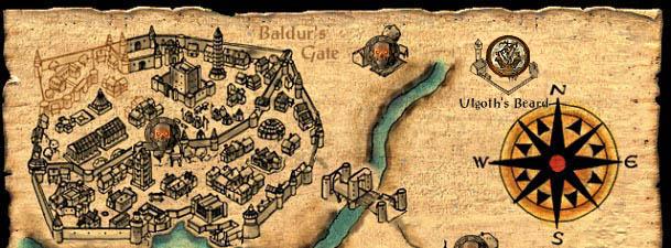 Baldurs Gate Enhanced Edition World Map